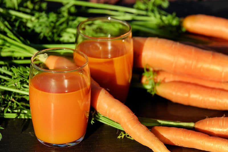 carote e succo